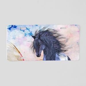 Blue Unicorn 3 Aluminum License Plate