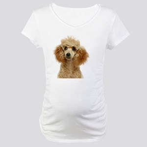 Apricot Poodle Puppy Maternity T-Shirt