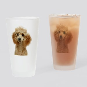 Apricot Poodle Puppy Drinking Glass