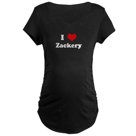 I Love Zackery Maternity Dark T-Shirt