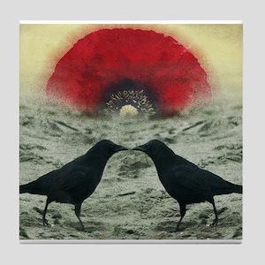 """""""Poppy Sunrise""""  Tile Coaster"""
