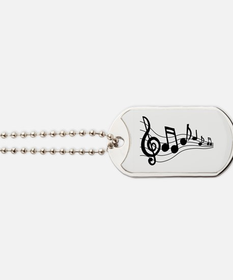 Music Notes Dog Tags