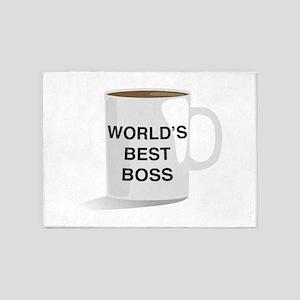 World's Best Boss 5'x7'Area Rug