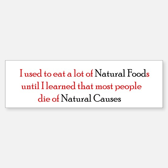 Natural Foods Car Car Sticker