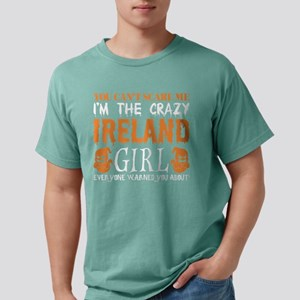 You Cant Scare Me Crazy Ireland Girl Hallo T-Shirt