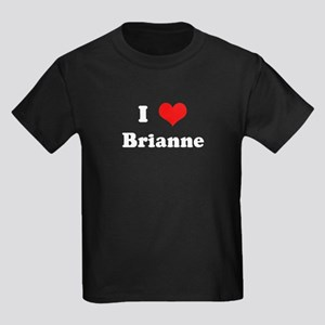 I Love Brianne Kids Dark T-Shirt