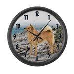 Finnish Spitz Large Wall Clock