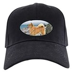 Finnish Spitz Black Cap with Patch