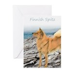 Finnish Spitz Greeting Cards (Pk of 10)