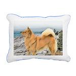 Finnish Spitz Rectangular Canvas Pillow