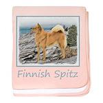 Finnish Spitz baby blanket