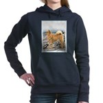 Finnish Spitz Women's Hooded Sweatshirt