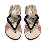 French Bulldog (Sable) Flip Flops