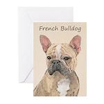 French Bulldog (Sable) Greeting Cards (Pk of 10)