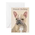 French Bulldog (Sable) Greeting Cards (Pk of 20)