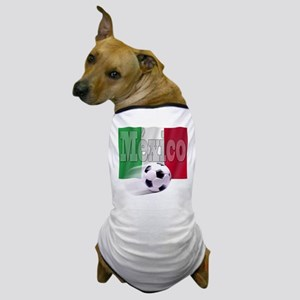 Soccer Flag Mexico Dog T-Shirt