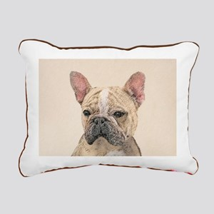French Bulldog (Sable) Rectangular Canvas Pillow