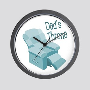 Dad's Throne Wall Clock