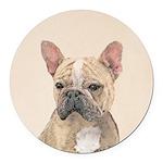 French Bulldog (Sable) Round Car Magnet