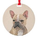 French Bulldog (Sable) Round Ornament