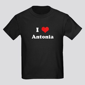 I Love Antonia Kids Dark T-Shirt