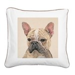 French Bulldog (Sable) Square Canvas Pillow