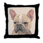 French Bulldog (Sable) Throw Pillow