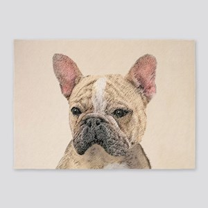 French Bulldog (Sable) 5'x7'Area Rug