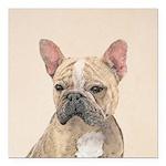 French Bulldog (Sable) Square Car Magnet 3