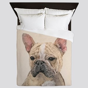 French Bulldog (Sable) Queen Duvet