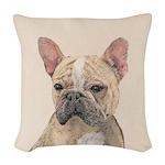 French Bulldog (Sable) Woven Throw Pillow