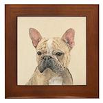French Bulldog (Sable) Framed Tile