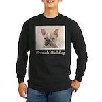 French Bulldog (Sable) Long Sleeve Dark T-Shirt