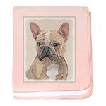 French Bulldog (Sable) baby blanket