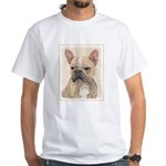 French Bulldog (Sable) White T-Shirt