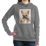 French Bulldog (Sable) Women's Hooded Sweatshirt