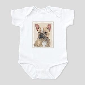 French Bulldog (Sable) Baby Light Bodysuit