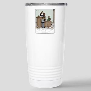 Atheist swearing 16 oz Stainless Steel Travel Mug