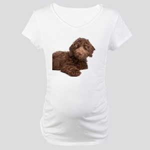 Labradoodle Puppy Maternity T-Shirt