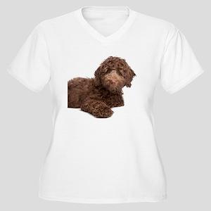 Labradoodle Puppy Women's Plus Size V-Neck T-Shirt
