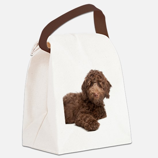 Labradoodle Puppy Canvas Lunch Bag