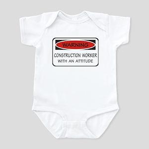 Attitude Construction Worker Infant Bodysuit