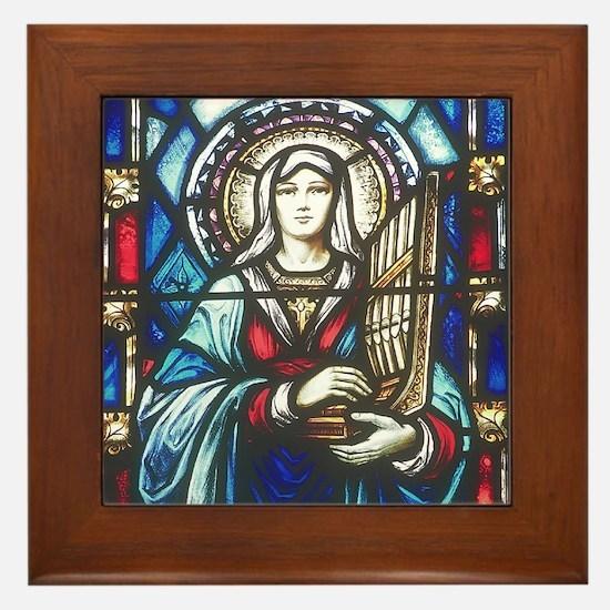 St Cecilia Framed Tile
