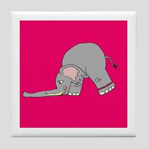 Downward Elephant Tile Coaster