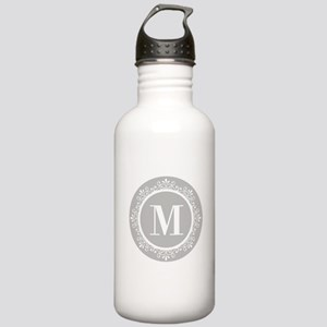 Gray | White Swirls Mo Stainless Water Bottle 1.0L