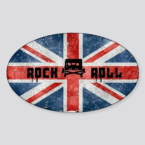 ROCK ROLL-BRITISH FLAG Sticker