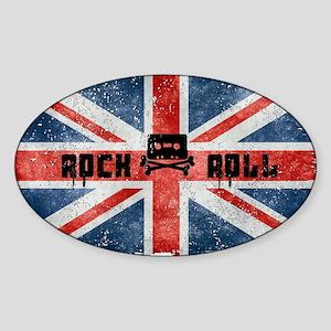 ROCK ROLL-BRITISH FLAG Sticker