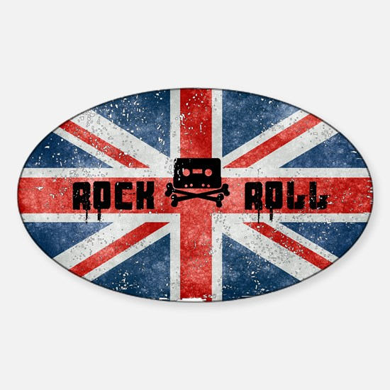 ROCK ROLL-BRITISH FLAG Decal