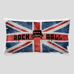 ROCK ROLL-BRITISH FLAG Pillow Case