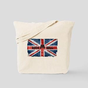 ROCK ROLL-BRITISH FLAG Tote Bag